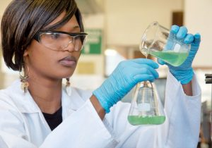 Woman Working with Polyimide Additives